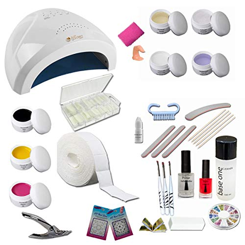 Nagelstudio Starterset MARYLAND – Nail Starter Set für Gelnägel – UV Gel Profi Kit mit Zubehör – künstliche Fingernägel