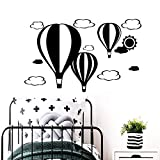 zhuziji Vintage Wall Art Stickers, Largeballoon Baby's Muurwallstvinyl Fondo Impermeable Autoadhesivo Apartamento Etiqueta de la Pared Decal28x44cm
