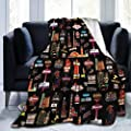 """Luxurious Warm and Cozy Flannel Wearable Blanket Wrap Lightweight Super Soft Throw Blanket Robe for Reading Snuggling Napping (50""""x40"""", Las Vegas Skyline) from BOOMHOUSE"""