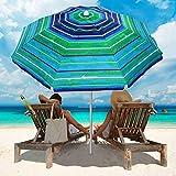 Best Umbrellas For Beach - MOVTOTOP Beach Umbrella, 6.5ft Beach Umbrella with S Review