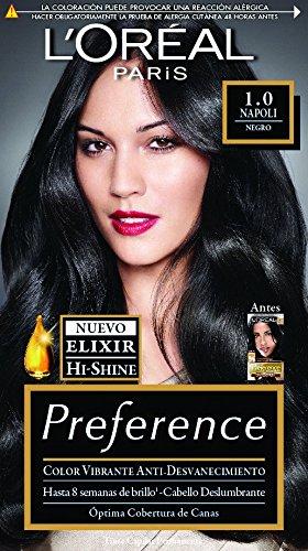 Tinte para cabello Permanente Preference L'Oréal Paris 1 Negro