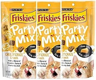 3 Bags of Friskies Party Mix Crunch Cheezy Craze Cat Treats 2.1oz ea