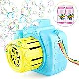 Baztoy Bubble Machine, Automatic Bubble Maker Kids Toys with 2 Bottles Bubble Solution for Babies Boys Girls...