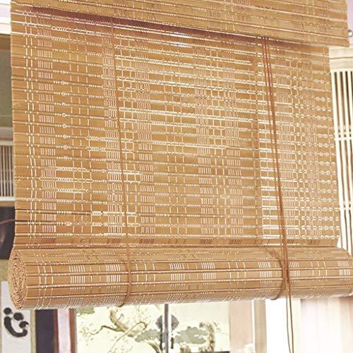 GDF blind uit bamboe filtering La Licht des Sole Romano rol van hout gordijn met vochttransport zonnescherm anti-muffa decoratieve gordijnen binnen (breedte: 140 cm)