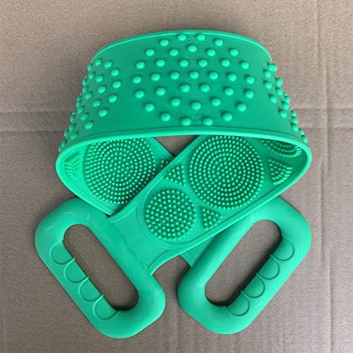 Tatapai Gant de Toilette Loofahs Éponges Serviette de Bain en Gel de Silicone Essentiels de Salle de Bain Rub Ash Article d'artefact Frotte Le Dos Rub The Mud-Green