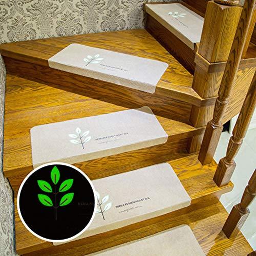 Luminose vloerbedekking, set van 5 stuks, met autostickers voor trappen, tapijt/vloermat, antislip, zelfklevend