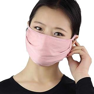 Women Silk Reusable Mask Filter PM2.5 Air Filtration Mask