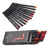 DC-BEAUTIFUL 12Pcs Lot Set 12 Colors Lip Liner Pencil Waterproof Non-marking Matt Velvet Lipstick Pen
