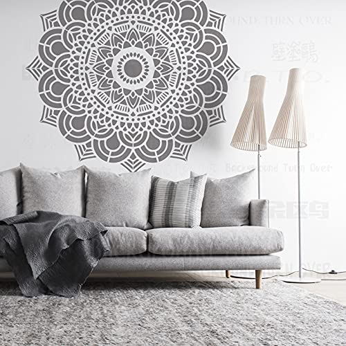 140cm Huge Giant Mandala Ceiling Indian Arabic Ethnic Round Stencil Plantillas Para Decoración Pintura De Azulejos Grandes Paredes De Mandala Patrones Grandes Plantilla De Pared De Nicho De