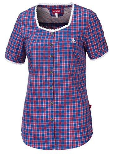 OCK Damen Hemd/bluse Kurzarm, Blau, 36