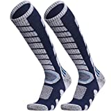 WEIERYA Ski Socks 2 Pairs Pack for Skiing,...