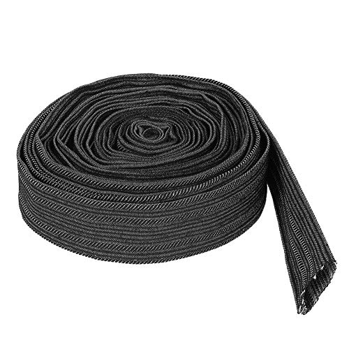Nylon Protective Sleeve Sheath Cable Cover,Length 7.5m / 25ft,Diameter 27mm / 1.06inch,for Plasma Torch Hose, Stick Welding Cables, Hydraulic Hoses, Wiring Harnesses