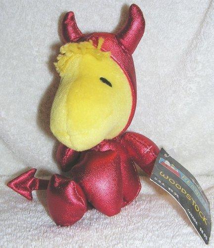 Peanuts Snoopy 8 Plush Halloween WOODSTOCK in Devil Costume Bean Bag Doll by 1HPB1207 Devil Woodstock 8 inch plush toy