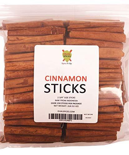 Dualspices Cinnamon Sticks (2lb) - 100 to 150 Sticks 2.75