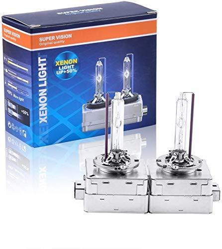 VTOP D3S Xenon HID Scheinwerferlampe - 12V 35W - D3S 6000K Xenon Brenner HID Scheinwerfer (2 pro Satz, Weiß)