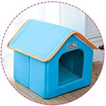 ZRL77y Pet House Foldable Bed with Mat Soft Winter Leopard Dog Puppy Sofa Cushion House Kennel Nest Dog Cat Bed for Small ...