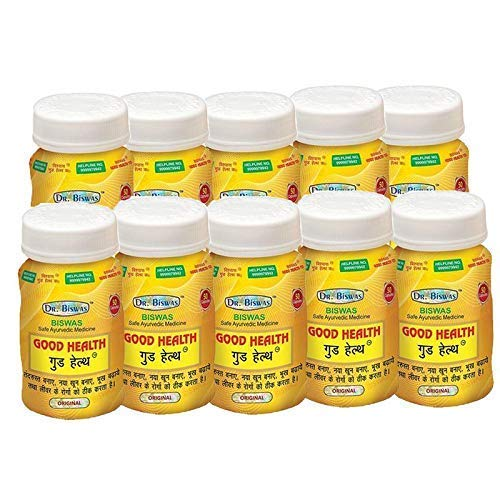 Dr Biswas Ayurvedic Good Health Capsules - Pack of 10 x 50 = 500 CAPSULES