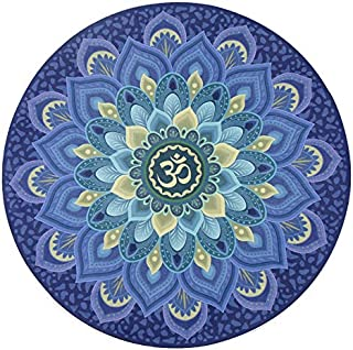 Round Yoga Mat/Foldable Meditation Mat, Rubber Non-Slip Carpet, Doormat - for Men and Woman, Diameter 60cm (Perfect Gift),B