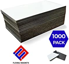 1,000 Self Adhesive Magnetic Business Card Magnets 20 mil Peel and Stick.!