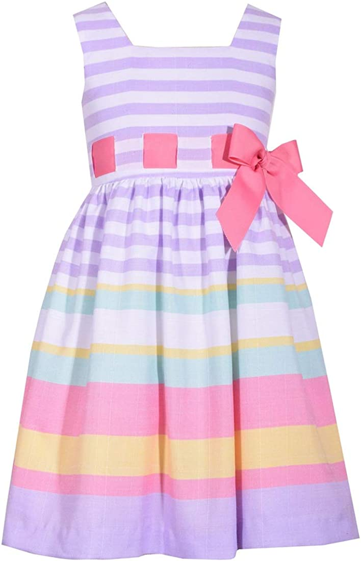 Bonnie Jean Little Girls 2T Lowest price challenge Al sold out. - Stripe Multi 16 Lavender Lin