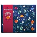 FROG.coffee Tee Adventskalender - 24 verschiedene Teebeutel vieler Marken wie Teekanne, Meßmer,...