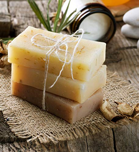 Dhakshi Handmade soap - Pack of 5 soap with natural essential oils - Coconut, Aloe Vera, Indian lilac (Neem), Fuller Earth (Multani Mitti), Rose Green Gram -100% Vegan - for men and women, face and body
