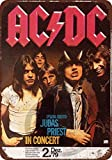 Froy 1979 Ac/Dc E Judas Priest In Germany Wand Blechschild
