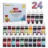 Colorante alimentario 24 colores, Colorante Alimentario Alta Concentración Liquid Set para Colorear...