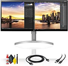 LG 34WN650-W 34'' 21:9 IPS HDR WFHD 3-Side Virtually Borderless Monitor + HDMI Cable and Cleaning Kit