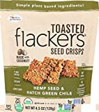 Dr In The Kitchen Flackers Organic Hemp and Hatch Green Chile Toasted Seed Crisps, 4.5 Ounce -- 6 per case.