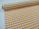 Confección Saymi Metraje 0,50 MTS Tejido Vichy Ref. Cuba Cuadro Medio 15x15 mm. Color Amarillo, con Ancho 2,80 MTS.