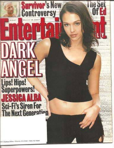 Entertainment Weekly March 16, 2001 Jessica Alba 'Dark Angel'