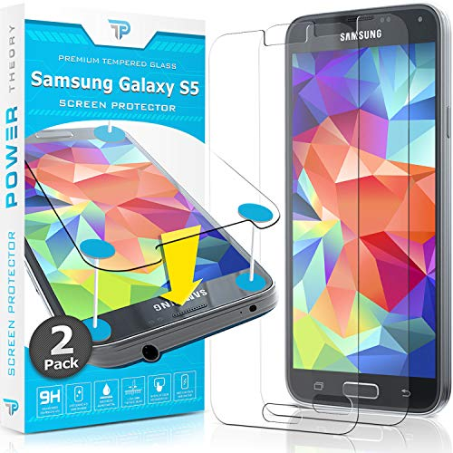 Power Theory Panzerglasfolie passend für Samsung Galaxy S5 / S5 Neo (2 Stück) - 9H Panzerglas Folie, HD Displayschutzfolie/Panzerfolie, Tempered Glas Schutzglas, Schutzfolie Screen Protector Glass