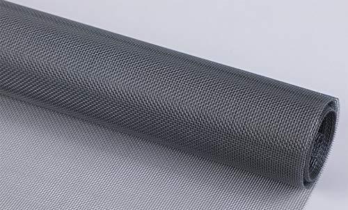 Hosaud Mosquitera para ventanas, 250 x 120 cm, fibra de vidrio, protección contra insectos, mosquitera para ventanas, tejido recortable y malla fina para todas las ventanas, color gris
