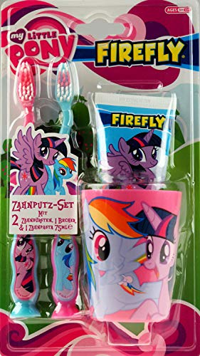Mijn kleine Pony Dentale set, tandenborstel x 2, tandpasta & Cup/Beaker
