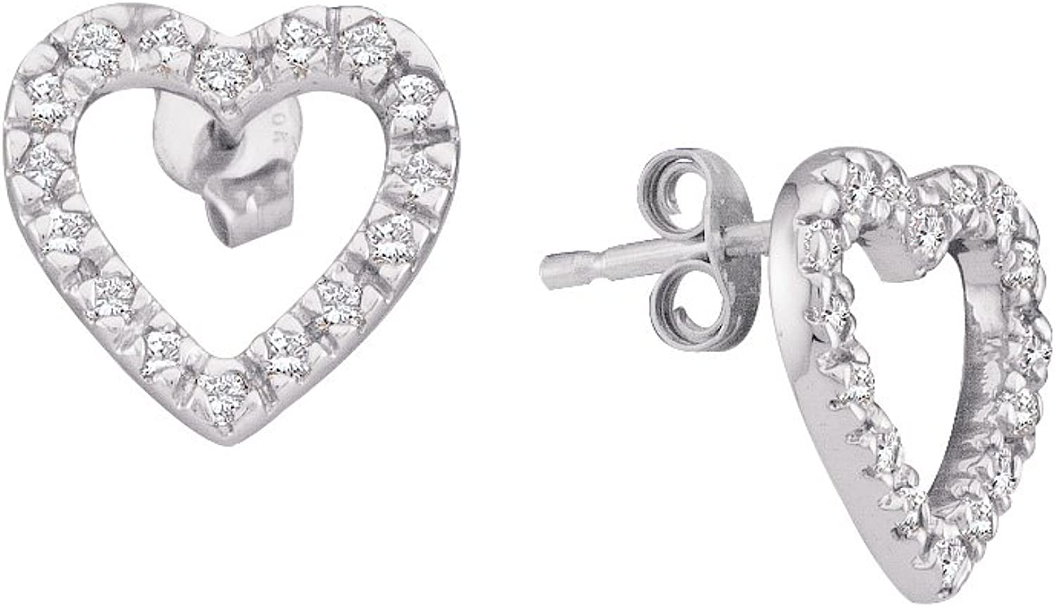 1 5 Total Carat Weight DIAMOND HEART EARRINGS