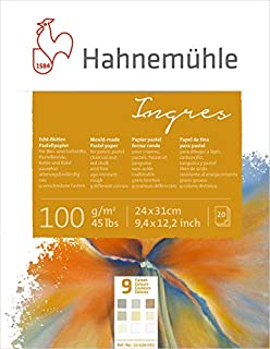 Hahnemuhle Pastel Paper Ingres 9 Color Mixed Media Sketch Pad - 100 GSM - 24 * 31 (cm)