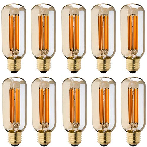 SHKUU Bombilla Retro Edison, Bombilla Antigua Decorativa LED, filamento Jaula Ardilla G125, Muy Adecuada para iluminación nostálgica y Retro