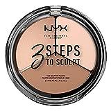 NYX Professional Makeup Palette Sculpting 3 Steps to Sculpt, Palette Contouring, Illuminante e Blush, Fair, Confezione da 1