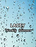 Lacey Weekly Planner: Name or Family Name 52 Weeks Undated Unlined Vertical Columns  Notebook with To-Do List and Notes Daily Organizer Gifts For Men Women Teachers White Marble Cover Print