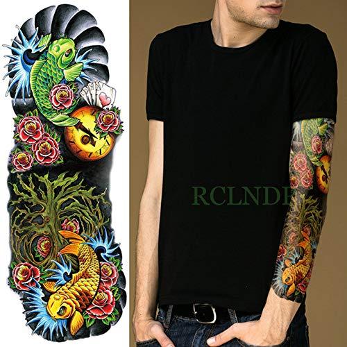 Wasserdichte Tattoo-Aufkleber gekreuzte Vogelaugen Full Arm Tattoo Übergroße Ärmel Männer und Frauen