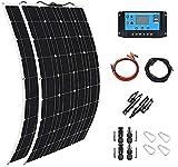 Framy Solar Panel 600W 2X 300W PET Flexible Solar Panel Portable Mono Solar Battery Charger with...