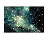 Paul Sinus Art 120x80cm - WANDBILD Sterne Planeten Weltall