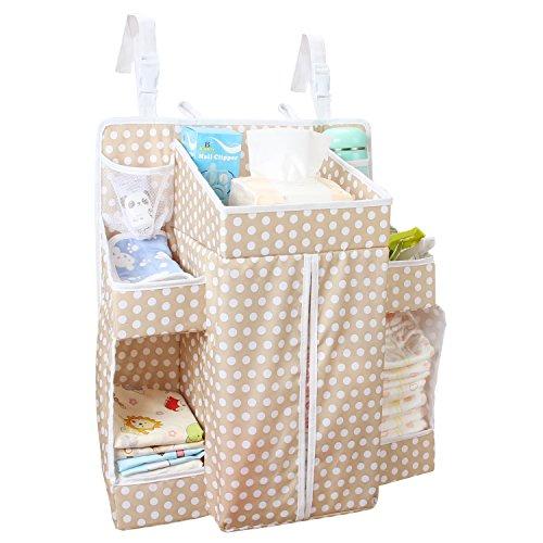 Biubee, organizzatore per pannolini, 52x 44 x 43cm, da appendere al fasciatoio, ideale per riporre gli oggetti essenziali per la cura del bambino