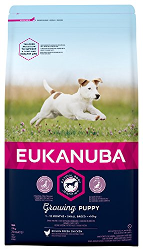 Eukanuba Puppy Dog Food for Small Dogs Rich in Fresh Chicken for the Optimal Body Condition of Your...