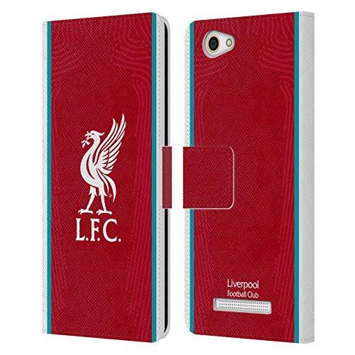 Head Hülle Designs Offizielle Liverpool Football Club Home 2020/21 PU Leder Brieftaschen Huelle kompatibel mit Wileyfox Spark X