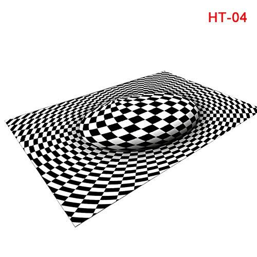 Giytoo 3D Areas tapijt vloerbedekking antislip deurmat matten voor thuis slaapkamer kantoor 80CMx120CM HT-04