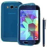 ANNART Carcasa Silicona Gel Cartera Tipo Libro Solapa para Samsung Galaxy Gran Plus / Neo I9060 + Lápiz Óptico - Azul