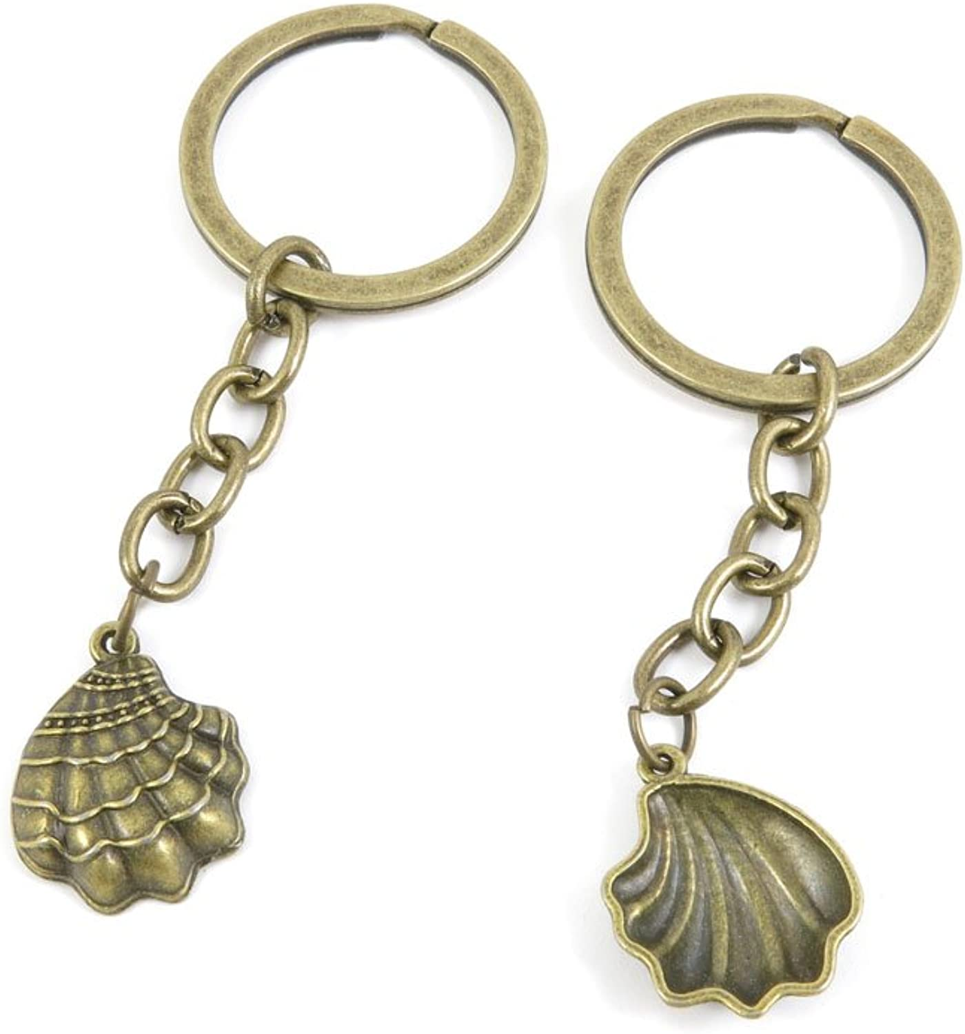 200 Pieces Fashion Jewelry Keyring Keychain Door Car Key Tag Ring Chain Supplier Supply Wholesale Bulk Lots M2KN6 Shell