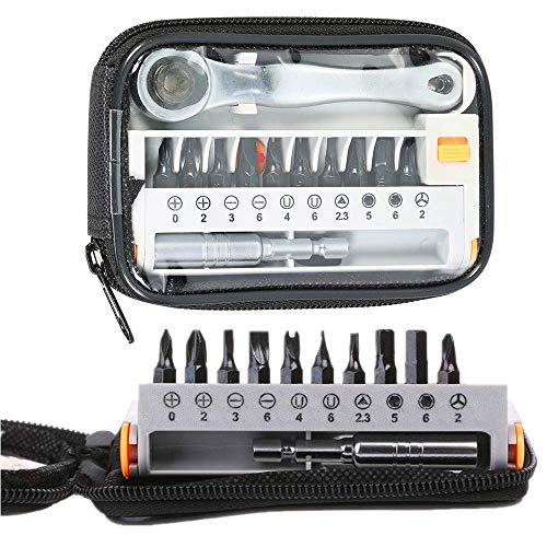 WYZXR 12 in 1 Precision Ratcheting Screwdriver Set Driver Kit, Interchangeable Bits Screwdrivers Tool for Appliance Maintenance, Bike and Motorcycle Repairing